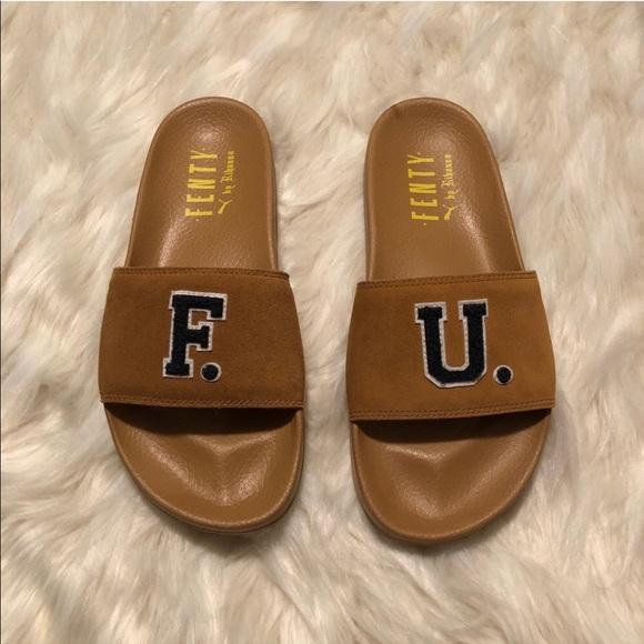 ddc695c3b098 🆕Unisex Puma Fenty x Rihanna Leadcat F. U. Slides
